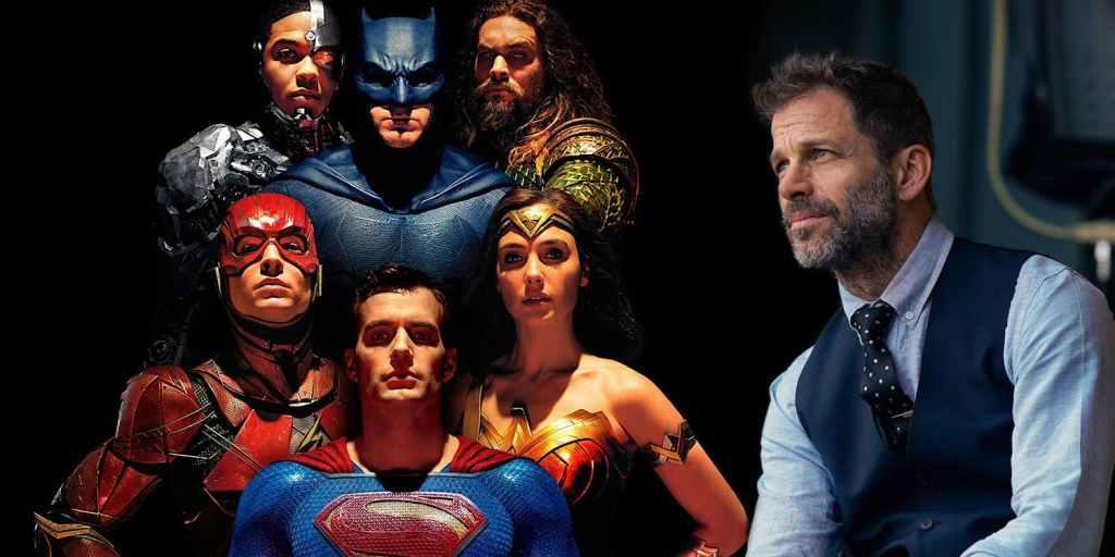 Fotografía de Zack Snyder con el elenco de Liga de la justicia