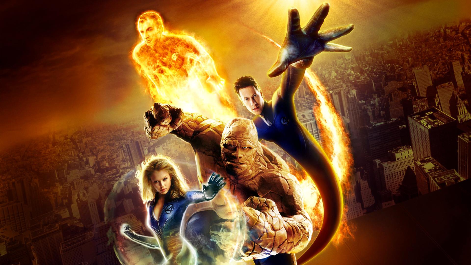 Imagen del elenco de la película Los 4 fantásticos de 2005