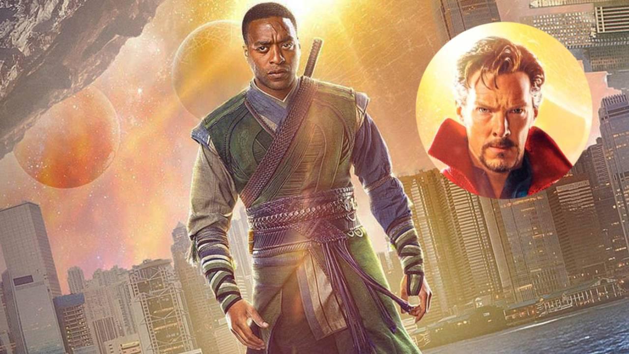 Fotografía de Chiwetel Ejiofor con Benedict Cumberbatch en Doctor Strange