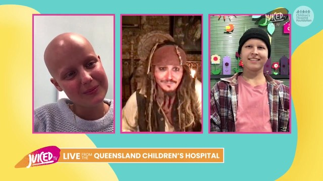 Johny Depp realiza visita virtual a hospital como Jack Sparrow