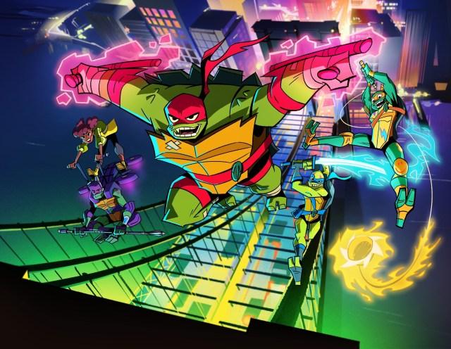 Ilustración de la serie animada Rise of the Teenage Mutant Ninja Turtles