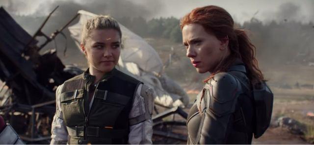 Fotografía de Scarlett Johansson y Florence Pugh en Black Widow