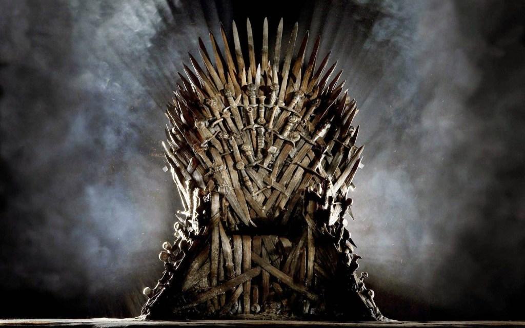 Fotografía del trono de Game of Thrones