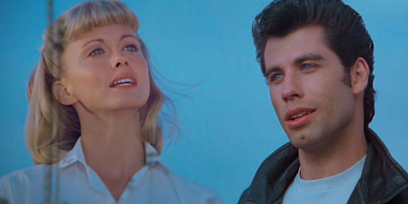 Fotografía de John Travolta y Olivia Newton-John en Vaselina (Grease)