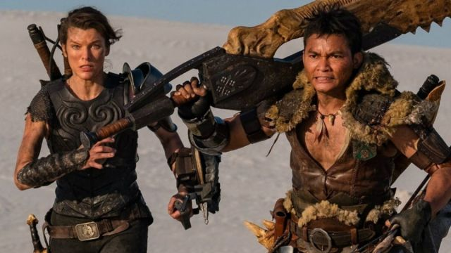 Fotografía de Milla Jovocih y Tony Jaa en Monster Hunter