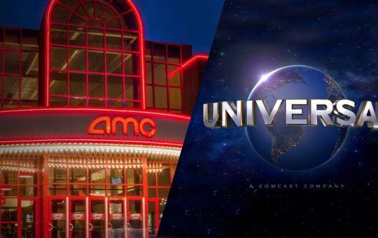 Fotografía de cine AMC con logo de Universal Pictures