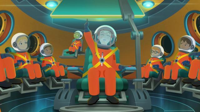 El autobús mágico vuelve a despegar - Clase espacial