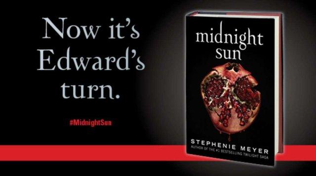 Portada del libro Midnight Sun, de la saga Crepúsculo