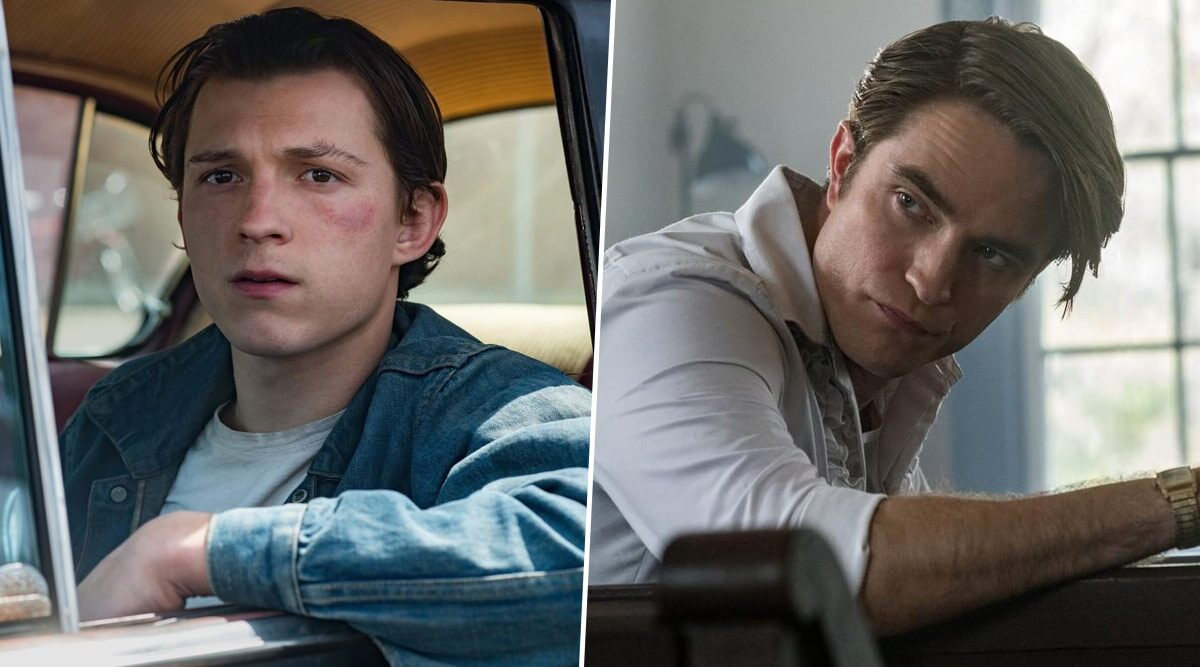 Fotografía de Robert Pattinson y Tom Holland en The Devil All the Time
