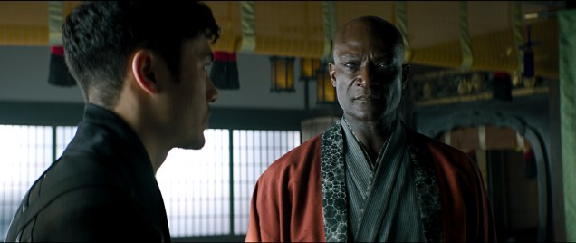 Henry Golding plays Snake Eyes and Peter Mensah plays Blind Master in Snake Eyes: G.I. Joe Origins from Paramount Pictures, Metro-Goldwyn-Mayer Pictures and Skydance.