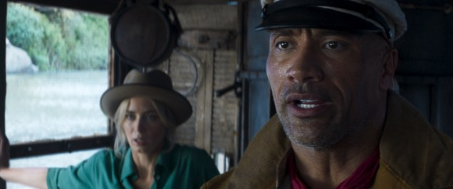 Emily Blunt as Lily Houghton and Dwayne Johnson as Frank Wolff in Disney's JUNGLE CRUISE. Photo courtesy of Disney. © 2021 Disney Enterprises, Inc. All Rights Reserved.