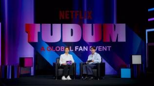 TUDUM! 2021. (L to R): Kim Hee-Chul, Kai. Cr. Courtesy of Netflix/Netflix © 2021