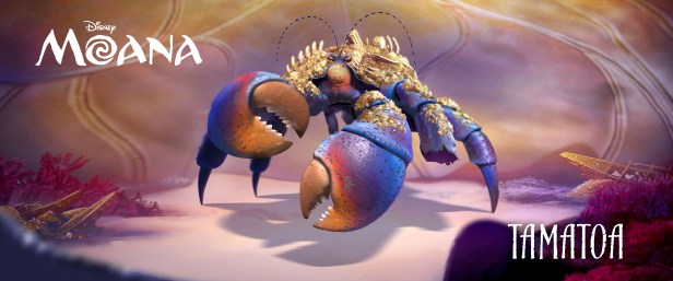 """JEMAINE CLEMENT (""""The BFG,"""" """"Despicable Me,"""" """"Rio,"""" """"Rio 2,"""" """"What We Do in the Shadows,"""" Flight of the Conchords) provides the voice of TAMATOA, a self-absorbed, 50-foot crab who lives in Lalotai, the realm of monsters. ©2016 Disney. All Rights Reserved."""