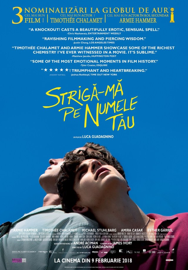 Call me by your name – Striga-ma pe numele tau merita PIERSICA DE AUR
