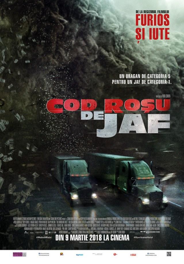 Cod rosu de jaf – The Hurricane Heist – film bun cu trailer si poster slabe