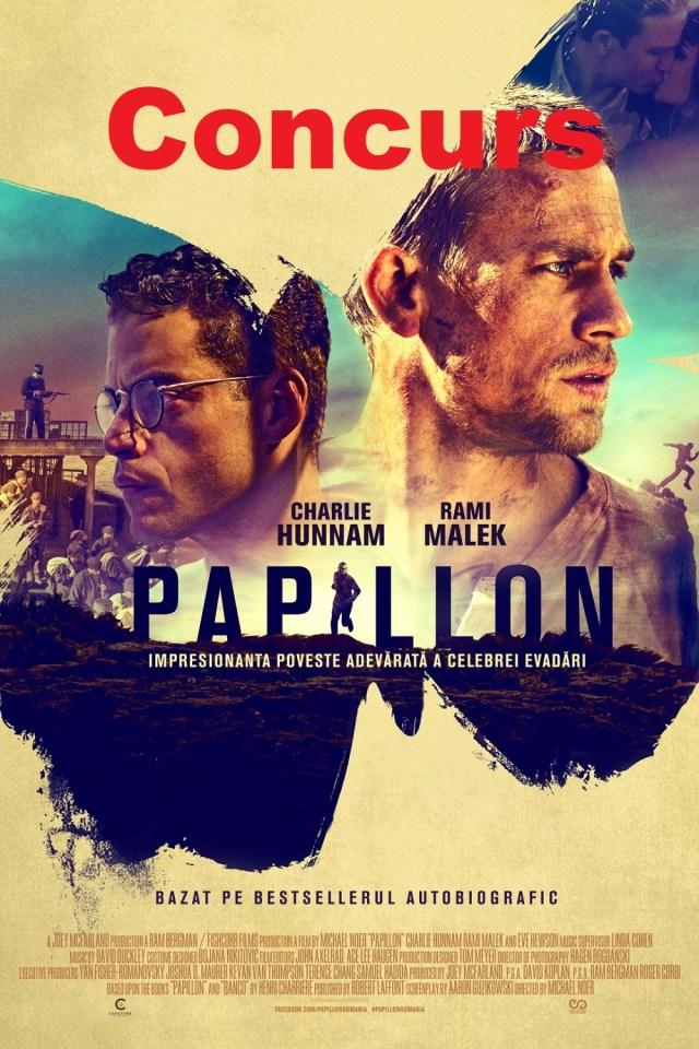 Concurs Papillon – 2 invitatii duble valabile la CineGlobe Auchan Titan