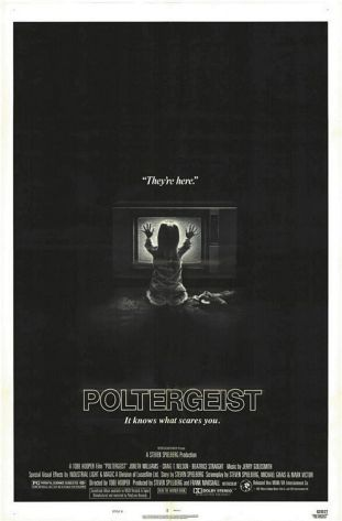 US poster for Poltergeist. Designer unknown