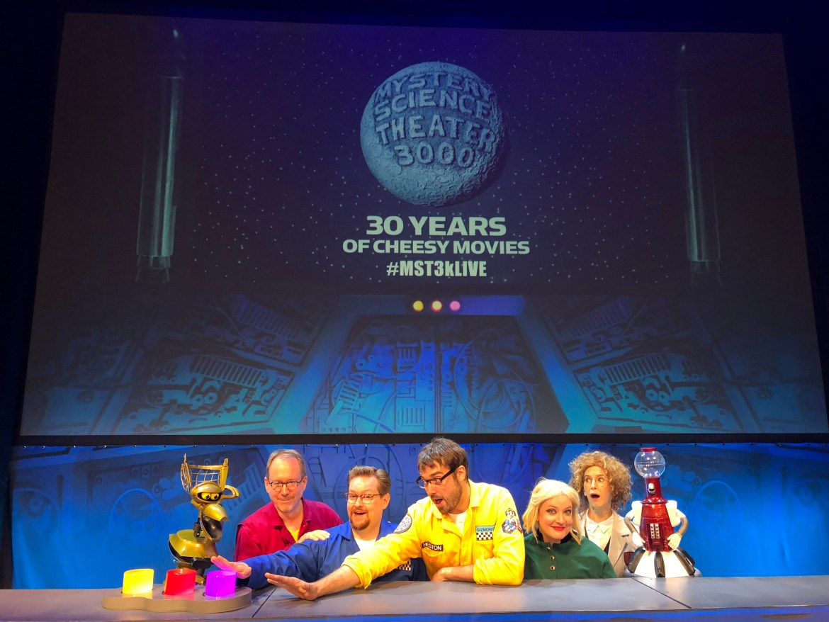 Trey with the cast of Mystery Science Theater 3000