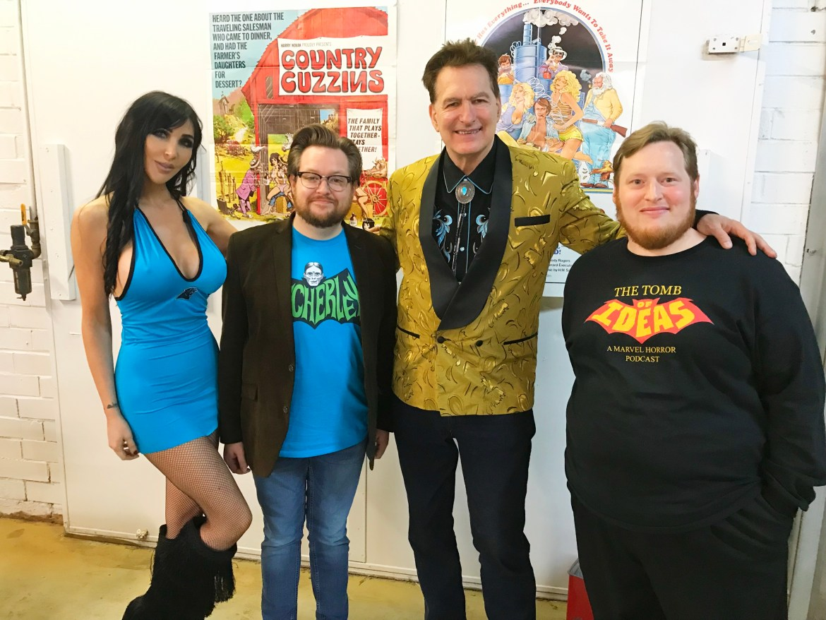 Trey and James with Joe Bob Briggs and Darcy
