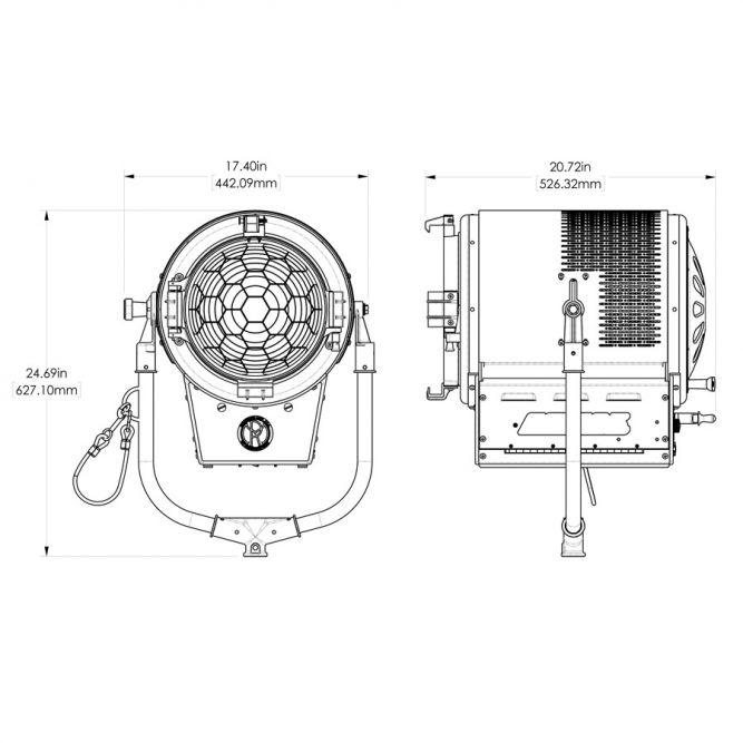 Mole 900w Senior LED Daylite Fresnel