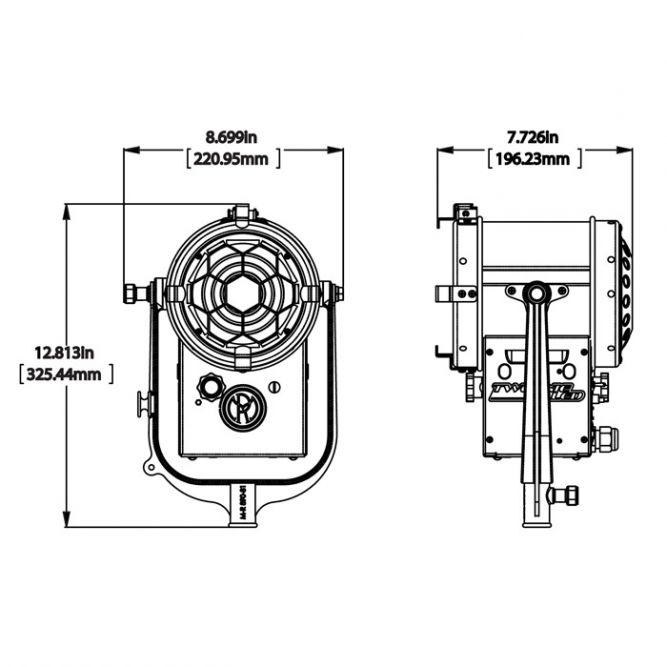 Mole 100w Tweenie LED Daylite Fresnel