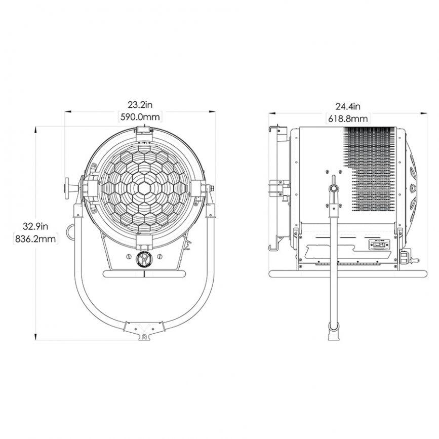 Mole 1600w Tener LED Daylite Fresnel