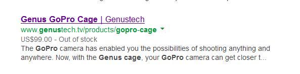 Genus GoPro Cage Price $99