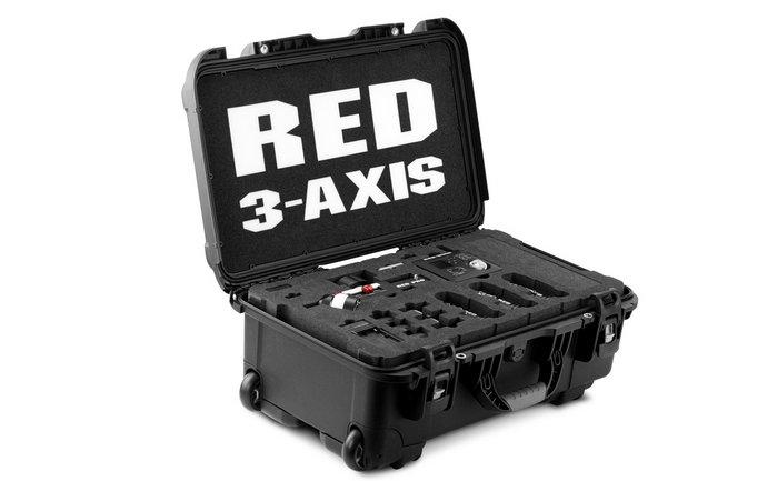 RED 3-axis lens control system in case
