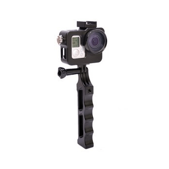 Black New Aluminum Alloy Handheld Monopod HandGrip With GoPro Action Camera Cage For Gopro Hero 3 Sport Camera Accessories