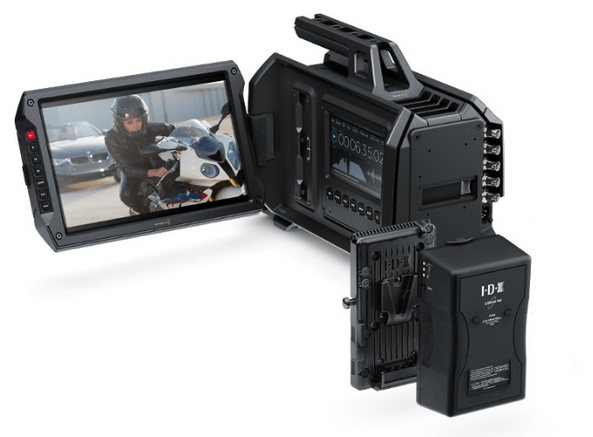 Blackmagic URSA Camera Powered Via the IDX V-Mount Battery Adaptor Plate