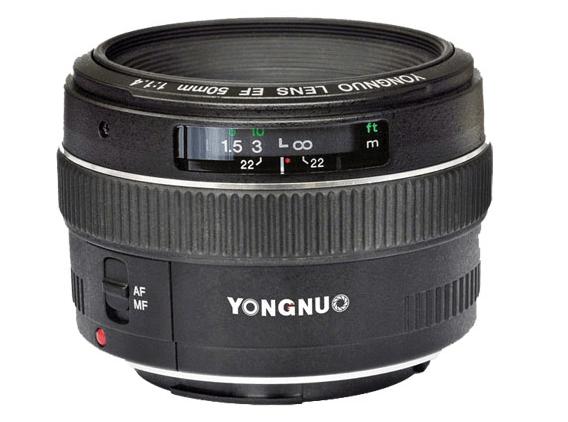 YONGNUO 50mm 1.4 EF lens