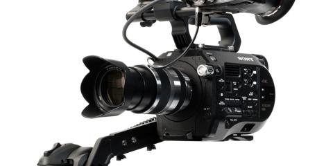 Alphatron EVF FS7 CION Bracket on Sony FS7