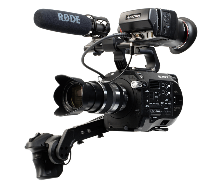Alphatron EVF FS7 CION Bracket on Sony FS7