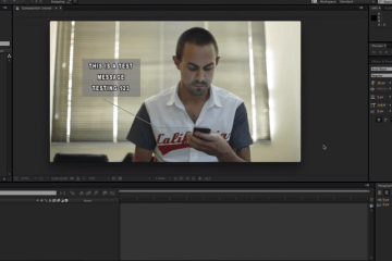 After Effects Tutorial - Phone Text Message Popup