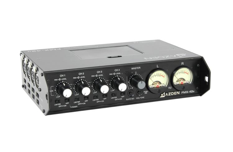 Azden FMX-42u Portable Mixer with USB Output