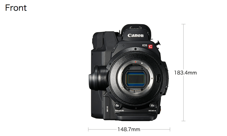 4K Canon C300 MKII Front