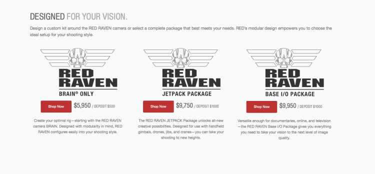 RED Raven Packages