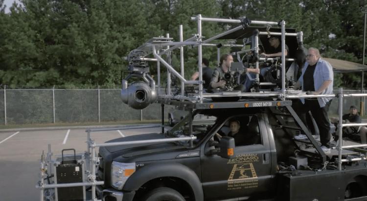 Gyron camera gimbal truck