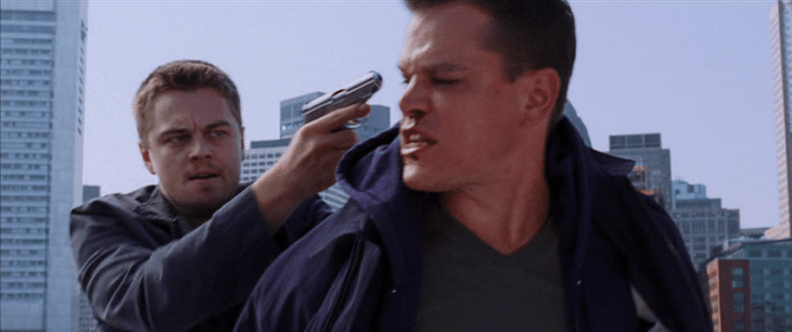 The Departed fight on roof