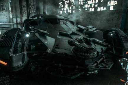 O visual divulgado anteriormente do Batmóvel