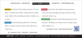 Invitation Card 210x99cm Vrai Sans Blanc Berlin 10-2014_03-2015 text