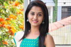 Arthana Binu in Blue Dress