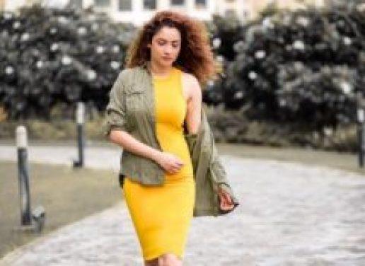 Ankita Lokhande in Yellow