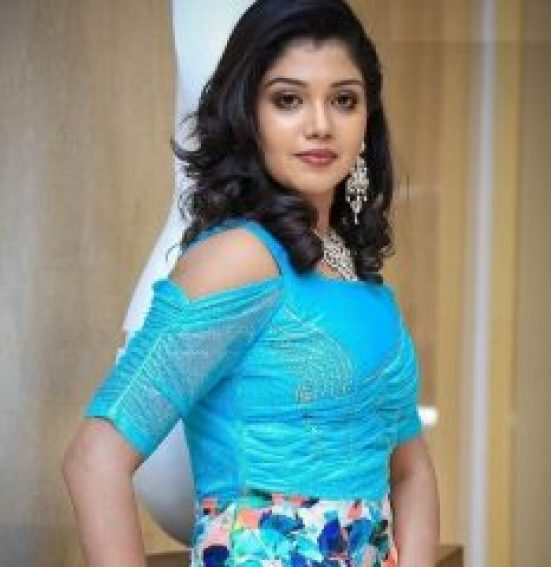 Riythvika in Blue Dress
