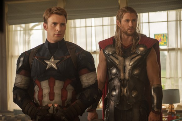 Marvel's Avengers: Age Of Ultron..Captain America/Steve Rogers (Chris Evans) and Thor (Chris Hemsworth)..Ph: Jay Maidment..?Marvel 2015