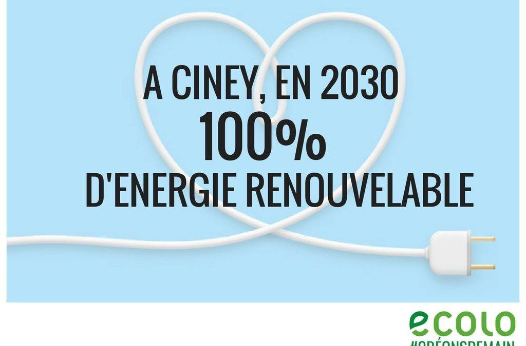 Ciney, 100 % renouvelable en 2030 ? C'est possible !