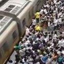 Metro lleno en Pekín