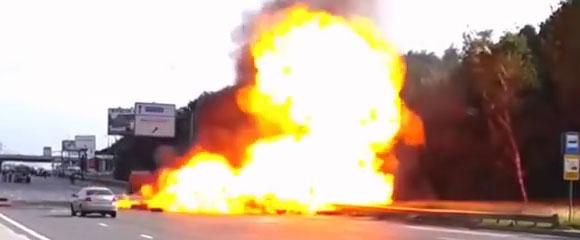 Explosión de un camión cisterna de gasolina en Rusia