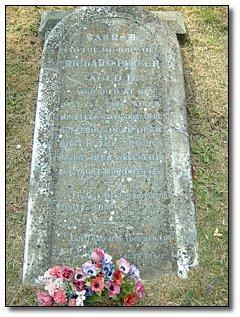 La tumba de Richard Parker muerto a los 17 años.
