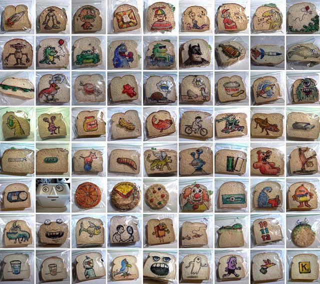 Ilustraciones en envoltorios del pan